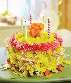 1 800 flowers 174 fall birthday flower cake at from you flowers