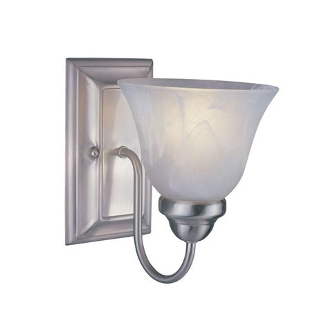 Brushed Nickel Sconce Hampton Bay Arla 1 Light Brushed Nickel Sconce 15141 The