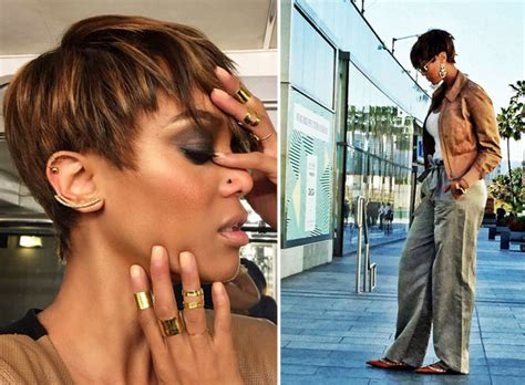 tyra banks just got a super short and super pretty pixie 6 celebrities with short hair and street style to die for