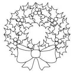 Christmas wreaths coloring book pages