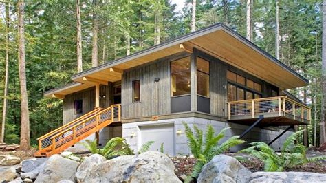 modern prefab cabin home design wall