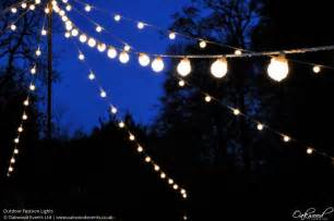 Outdoor lighting hire wedding and event lighting by oakwood events