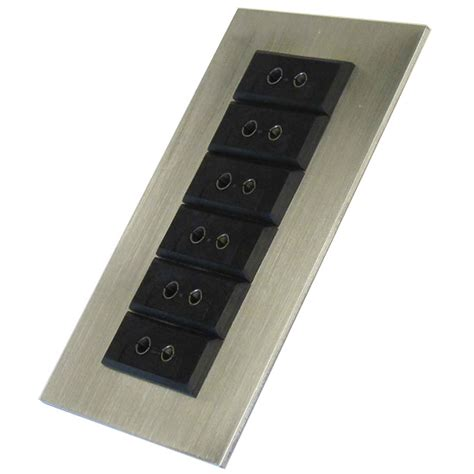 Box Panel Standar digi sense thermocouple panel 6 jacks for conduit box standard type j from davis instruments