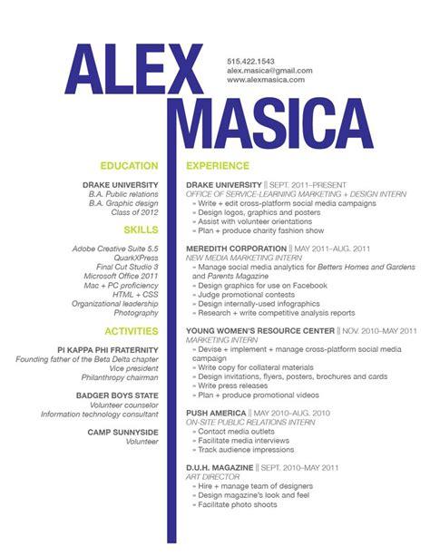 graphic design resume berathen