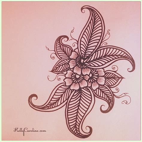 henna design sketches late night sketch henna style flowers leaves henna