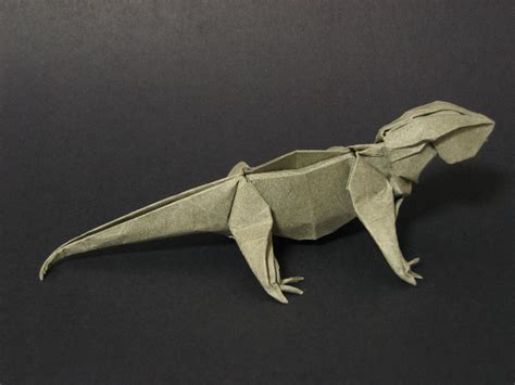 Origami Lizard - zing origami animals beasts and creatures