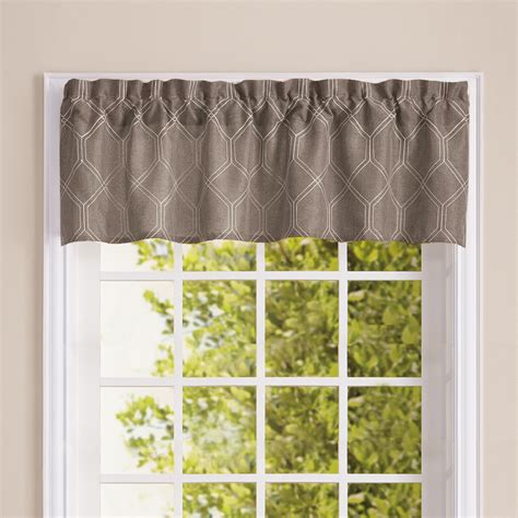 grey valance curtains homewear dino valance grey