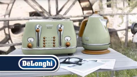 delonghi vintage icona kettle  toaster breakfast set