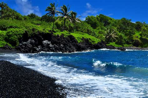 black sand beach maui maui black sand beach matt currie flickr