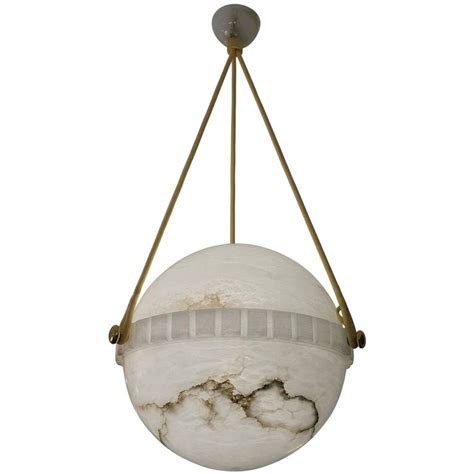 Alabaster Lighting Fixtures Swedish Alabaster Globe Light Fixture At 1stdibs