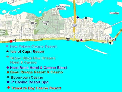 biloxi map map of biloxi casinos pictures to pin on pinsdaddy
