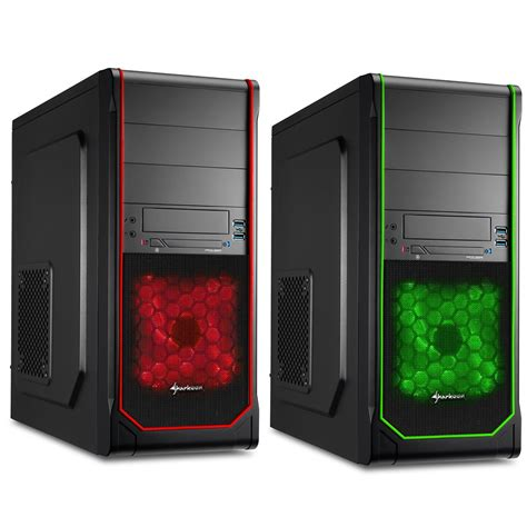 Sharkoon T3 W Gaming Casing Atx Midi Tower Green Blue Led Bla hi tech daily news sharkoon intros new mid tower atx pc cases