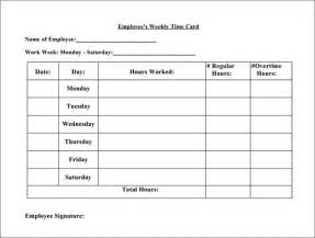 Printable Time Card Template 15 Time Card Calculator Templates