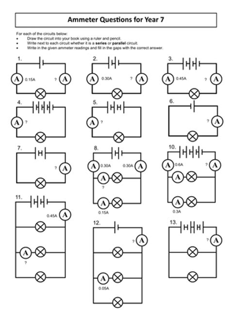 parallel circuits ks3 worksheet worksheet circuit worksheets mifirental free printables worksheets for students