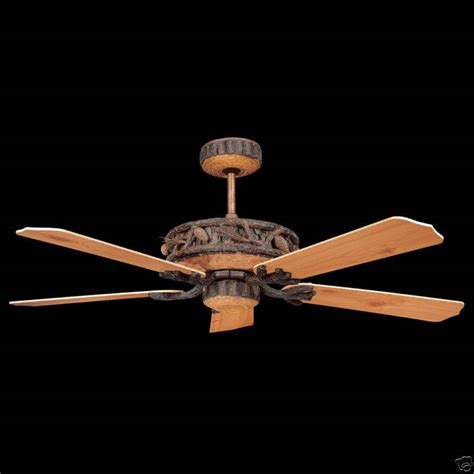 log cabin ceiling fans rustic 52 quot ponderosa ceiling fan log cabin lodge ebay