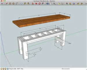 Woodworking farmhouse dining table bench plans plans pdf download free