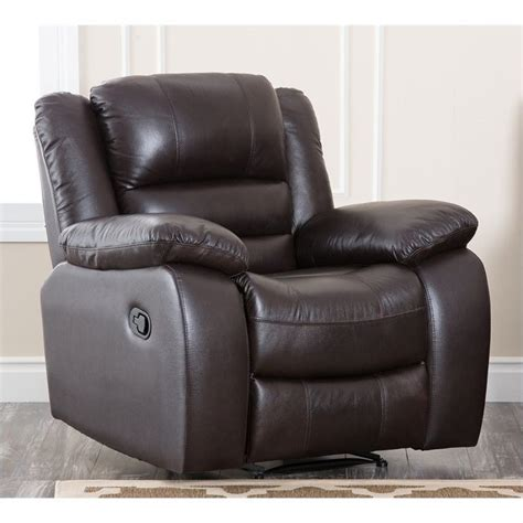 abbyson living recliner abbyson living levari leather recliner in dark truffle