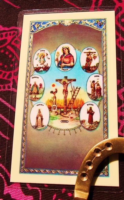 santeria meanings santeria prayer card bookmark or altar adornment by