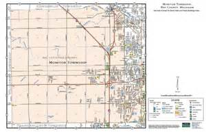 map of by county monitor township bay county mi pdf map file
