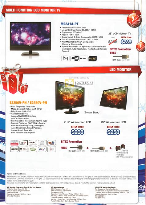 Monitor Lg M2341a lg monitors m2341a pt lcd monitor tv led e2250v pn e2350v pn sitex 2011 price list brochure