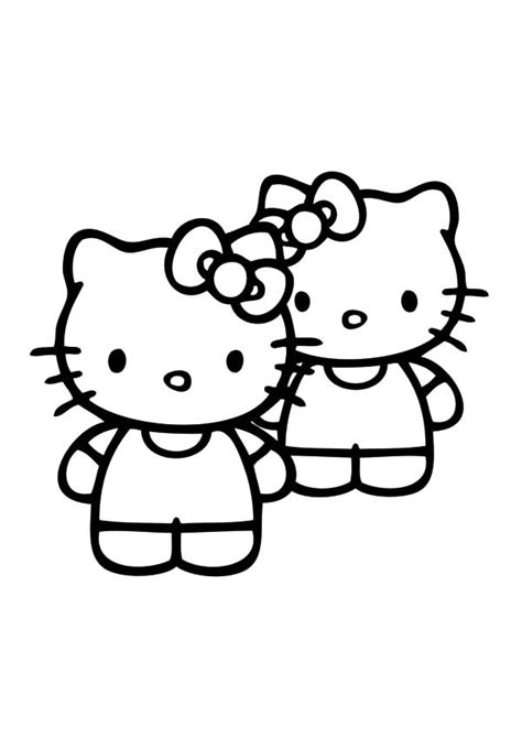 coloring pages hello kitty and friends best friends hello kitty coloring pages best place to color