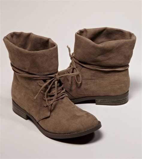 aeo foldover suede bootie american eagle outfitters on