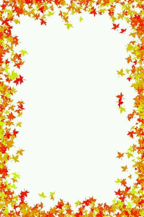 lined paper with leaf border fall leaves border осень pinterest fall leaves