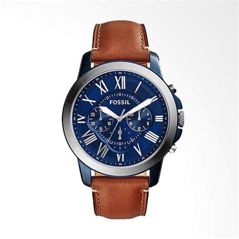 Jam Tangan Fossil Brown jual fossil fs5151 jam tangan pria brown blue