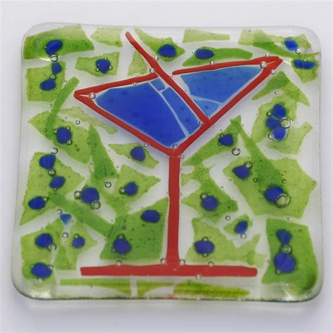 martinis cheers cheers glass fused glass plate oooo fused