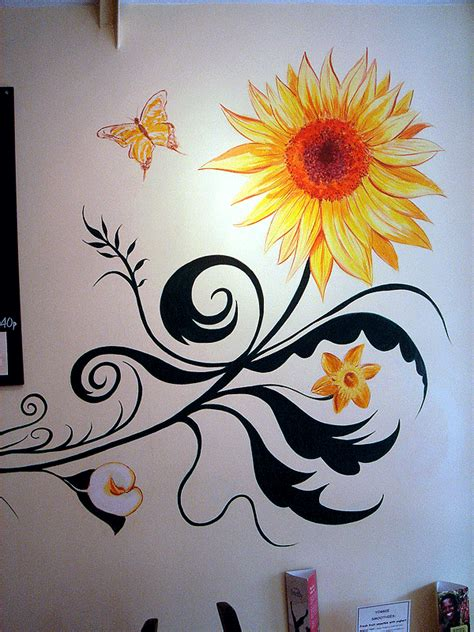 flower design for wall painting murals wall paintings london by mural artist childrens