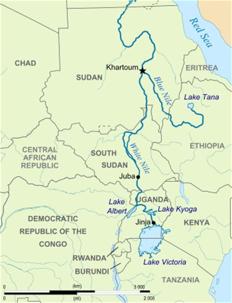 africa map nile river white nile