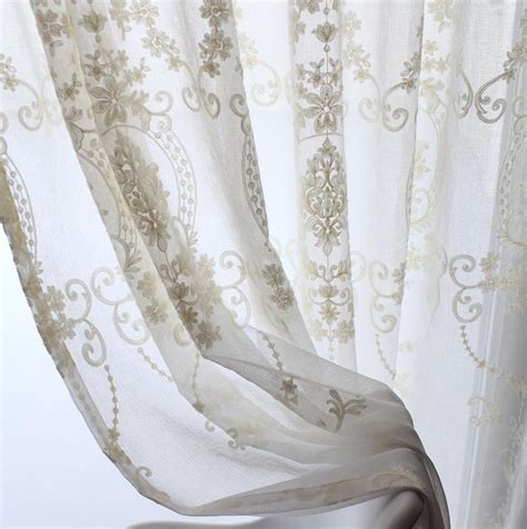 victorian sheer curtains 2xcustom french country cottage victorian damask
