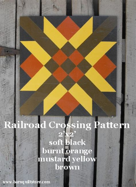 quilt pattern railroad crossing painted wood barn quilt railroad crossing pattern