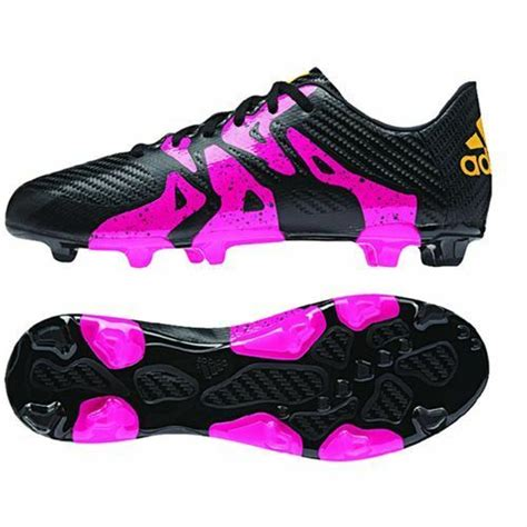 adidas x 15 3 trx fg ag 2015 soccer shoes cleats new black pink youth ebay