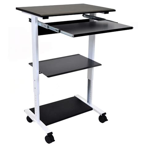 Adjustable Standing Desk Three Shelves Luxor Schoolsin Standing Desk Shelf