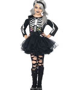 super scary halloween costumes for girls scary skeleton kids costume la c48197