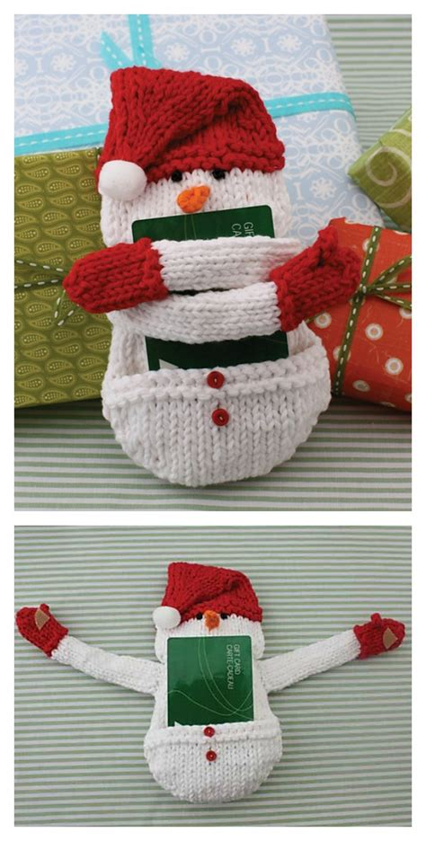 Send Free Gift Cards - snowman gift card holder free knitting pattern