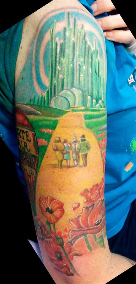 wizard of oz tattoo designs color wizard of oz on the arm tattoos i did
