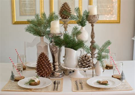 table scapes domestic fashionista natural christmas tablescape