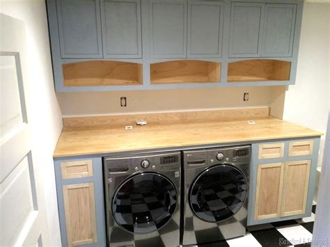 Operation Laundry Room Shaker Cabinets Reality Daydream How To Build A Laundry