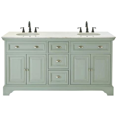 Home Decorators Bathroom Home Decorators Collection 67 In W Bath Vanity In Antique Light Cyan With