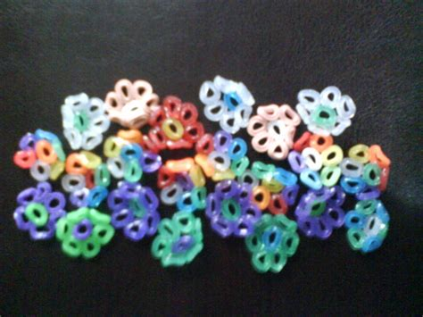 melted pony bead projects pony bead flower ring 183 a melted bead ring 183 version by