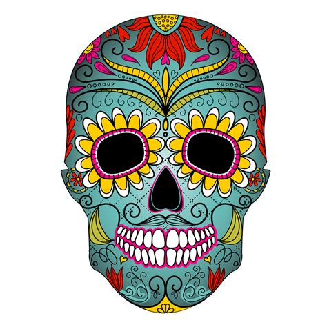 Day Of The Dead Skull Mad Cat Marketing Day Of The Dead Skull Vector