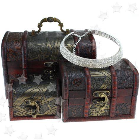Wooden Pirate Storage Box Vintage Treasure Chest 3 x wooden pirate jewellery storage box holder vintage treasure chest new ebay