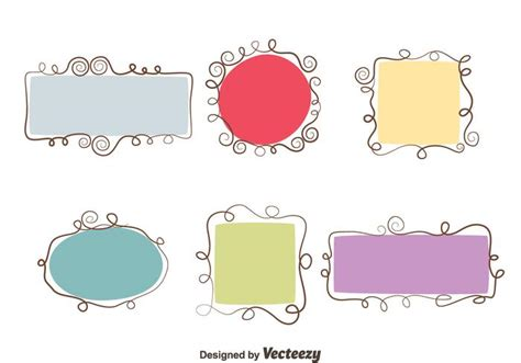 photo layout vector swirl frame vector set download free vector art stock