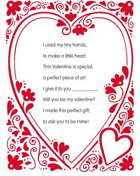 valentines day poems for my free s day handprint poem makes for a great