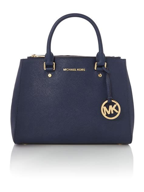 Michael Kors Sutton Medium Electric Blue And Navy michael kors sutton navy medium tote bag in blue navy lyst