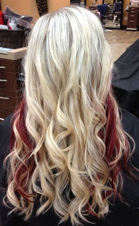 what red highlights look like in blonde streaked hair 12 beautiful blonde hairstyles with red highlights