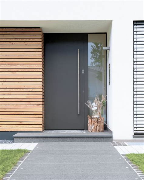 25 Modern Front Door With Wood Accents Home Design And Modern Black Front Doors