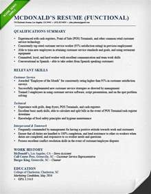 Functional Resume Functional Resume Sles Writing Guide Rg